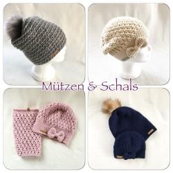 Mützen und Schals von Häkeliebe für Kinder und Erwachsene